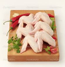 Chicken wings - not an ideal visualization for beautiful arms and hands.